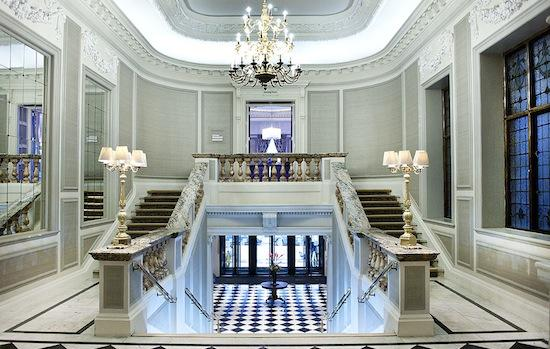 Connaught wedding venue staircase