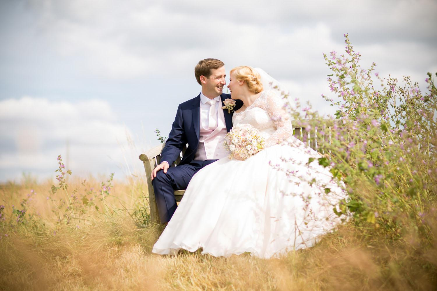 Bride and Groom at Alpheton Hall Barns