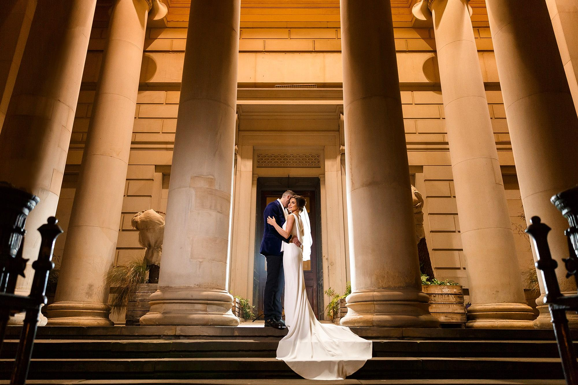 Bride and Groom at Manchester Art Gallery Wedding Venue